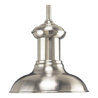 Progress Lighting Brookside 1 Light Mini-Pendant in Brushed Nickel P5023-09