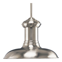 Progress Lighting Brookside 1 Light Pendant in Brushed Nickel P5024-09 photo thumbnail