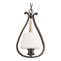 Club 1 Light 10 inch Antique Bronze Mini-Pendant Ceiling Light