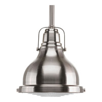 Fresnel Lens 1 Light 6 inch Brushed Nickel Mini-Pendant Ceiling Light in Standard