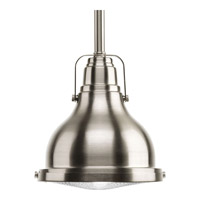 Progress Fresnel Lens 1 Light Pendant in Brushed Nickel P5050-0930K9