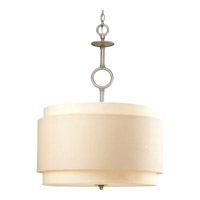 Progress Lighting Ashbury 3 Light Pendant in Silver Ridge P5056-134