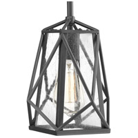 Progress P5073-143 Marque 1 Light 8 inch Graphite Mini-Pendant Ceiling Light Design Series