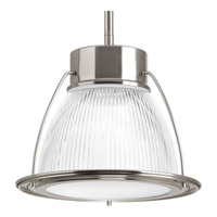 Progress Lighting Prismatic Glass 1 Light LED Mini-Pendant in Brushed Nickel with Prismatic Super White Glass P5075-0930K9