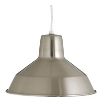 Progress P5087-09 Signature 1 Light 10 inch Brushed Nickel Pendant Ceiling Light in Standard alternative photo thumbnail