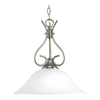 Progress Lighting Signature 1 Light Pendant in Brushed Nickel P5091-09ET