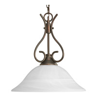 Progress Lighting Alabaster Glass 1 Light Pendant in Antique Bronze P5091-20
