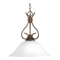 Progress P5091-20ET Signature 1 Light 15 inch Antique Bronze Pendant Ceiling Light in Etched alternative photo thumbnail