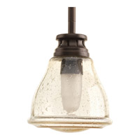Progress P5097-20 Academy 1 Light 5 inch Antique Bronze Mini-Pendant Ceiling Light in Clear Seeded Light Umber Seeded Glass