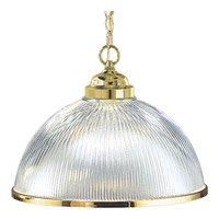 Progress Lighting Prismatic Glass 1 Light Pendant in Polished Brass P5103-10