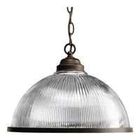 Progress Lighting Prismatic Glass 1 Light Pendant in Antique Bronze P5103-20