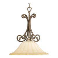 Progress Lighting Le Jardin 1 Light Pendant in Biscay Crackle P5122-91C