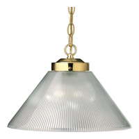 Progress Lighting Metal Shade 1 Light Pendant in Polished Brass P5127-10