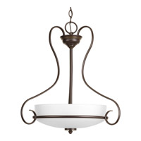 Progress Flirt 3 Light Foyer Pendant in Antique Bronze P5132-20