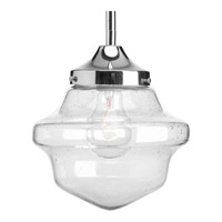 Progress P5137-15 Academy 1 Light 8 inch Polished Chrome Pendant Ceiling Light in Clear Seeded Light Seeded Glass