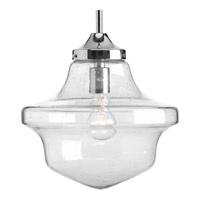 Academy 1 Light 12 inch Polished Chrome Pendant Ceiling Light in Clear Seeded Light Seeded Glass
