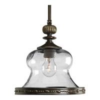 Progress P5140-77 Fiorentino 1 Light 11 inch Forged Bronze Mini-Pendant Ceiling Light