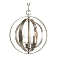 Progress P5142-126 Equinox 3 Light 10 inch Burnished Silver Pendant Ceiling Light photo thumbnail