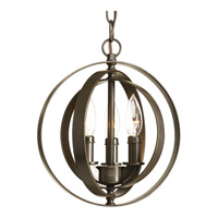 Equinox 3 Light 10 inch Antique Bronze Pendant Ceiling Light