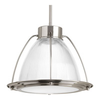 Progress Lighting Prismatic Glass 1 Light LED Pendant in Brushed Nickel with Prismatic Super White Glass P5143-0930K9