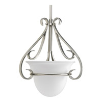 Torino 1 Light 13 inch Brushed Nickel Mini-Pendant Ceiling Light in Etched