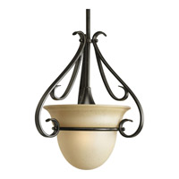 Progress P5144-77 Torino 1 Light 13 inch Forged Bronze Mini-Pendant Ceiling Light in Tea-Stained