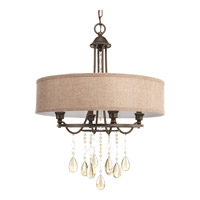 Flourish 4 Light 20 inch Cognac Pendant Ceiling Light