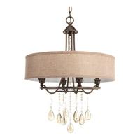 Progress P5151-72 Flourish 4 Light 20 inch Cognac Pendant Ceiling Light