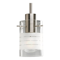 Glass Pendants 1 Light 4 inch Brushed Nickel Mini-Pendant Ceiling Light