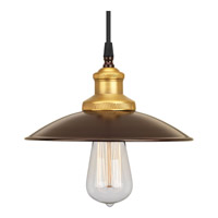 Archives 1 Light 9 inch Antique Bronze Mini-Pendant Ceiling Light