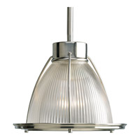Progress Lighting Glass Pendants 1 Light Mini-Pendant in Brushed Nickel P5163-09