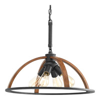 Progress Lighting Trestle 4 Light Pendant in Gilded Iron P5168-71