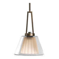 Progress Lighting Glass Pendants 1 Light Pendant in Oil Rubbed Bronze P5172-108