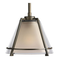 Progress Lighting Glass Pendants 1 Light Pendant in Oil Rubbed Bronze P5177-108