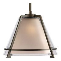 Progress Lighting Glass Pendants 1 Light Pendant in Oil Rubbed Bronze P5178-108