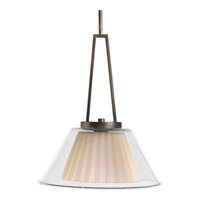 Glass Pendants 1 Light 17 inch Oil Rubbed Bronze Pendant Ceiling Light