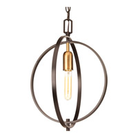 Swing 1 Light 14 inch Antique Bronze Pendant Ceiling Light