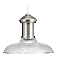 Progress Brookside 1 Light Pendant in Brushed Nickel P5181-09