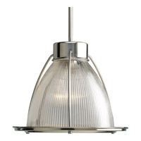 Progress Lighting Glass Pendants 1 Light Mini-Pendant in Brushed Nickel P5182-09