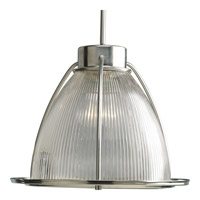 Progress Lighting Glass Pendants 1 Light Mini-Pendant in Brushed Nickel P5183-09