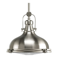 Fresnel Lens 1 Light 12 inch Brushed Nickel Pendant Ceiling Light in Standard