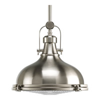 Fresnel Lens LED 12 inch Brushed Nickel Pendant Ceiling Light