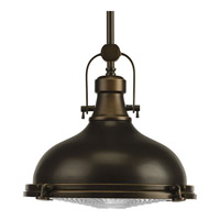 Progress P5188-108 Fresnel Lens 1 Light 12 inch Oil Rubbed Bronze Pendant Ceiling Light in Standard photo thumbnail