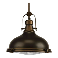 Progress P5188-108 Fresnel Lens 1 Light 12 inch Oil Rubbed Bronze Pendant Ceiling Light in Standard alternative photo thumbnail