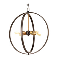 Swing 4 Light 25 inch Antique Bronze Pendant Ceiling Light