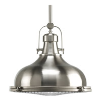 Fresnel Lens 1 Light 16 inch Brushed Nickel Pendant Ceiling Light in Standard