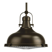 Progress P5197-108 Fresnel Lens 1 Light Oil Rubbed Bronze Pendant Ceiling Light in Standard