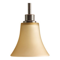 Joy 1 Light 6 inch Antique Bronze Mini-Pendant Ceiling Light in Etched Light Umber