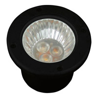 Landscape Black 3000K LED Well Light