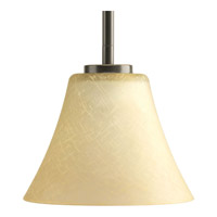 Bravo 1 Light 7 inch Antique Bronze Mini-Pendant Ceiling Light in Bulbs Not Included, Etched Umber Linen Glass
